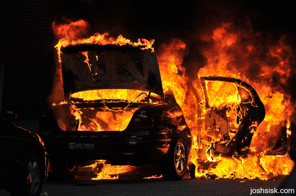 Burning Car, Baltimore
